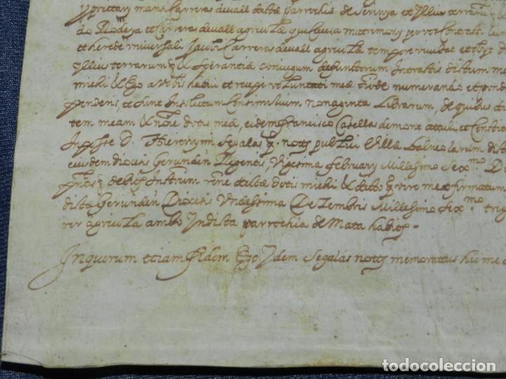 Arte: (M) ANTIGUO PERGAMINO AÑO 1631 PARROQUIA DE MATA, PORQUERES PLA DE LESTANY, GERONA - Foto 5 - 212761438