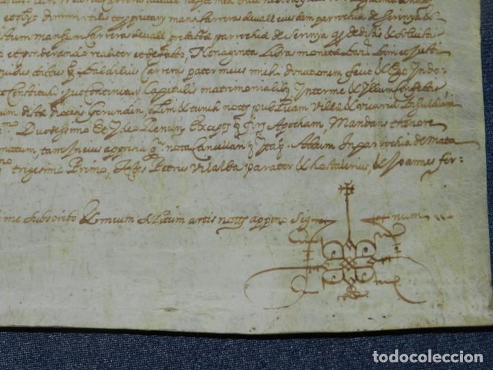 Arte: (M) ANTIGUO PERGAMINO AÑO 1631 PARROQUIA DE MATA, PORQUERES PLA DE LESTANY, GERONA - Foto 6 - 212761438