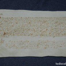 Arte: ANTIGUO PERGAMINO MANUSCRITO MEDIEVAL AÑO 1624 - 23X15CM. .- ORIGINAL DE LA ÉPOCA. Lote 212761801