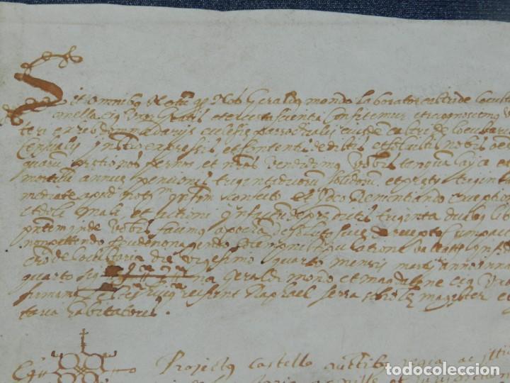 Arte: ANTIGUO PERGAMINO MANUSCRITO MEDIEVAL AÑO 1624 - 23X15CM. .- ORIGINAL DE LA ÉPOCA - Foto 2 - 212761801