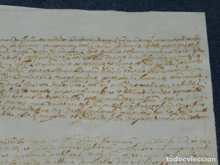 Arte: ANTIGUO PERGAMINO MANUSCRITO MEDIEVAL AÑO 1624 - 23X15CM. .- ORIGINAL DE LA ÉPOCA - Foto 3 - 212761801