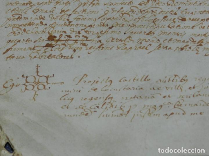 Arte: ANTIGUO PERGAMINO MANUSCRITO MEDIEVAL AÑO 1624 - 23X15CM. .- ORIGINAL DE LA ÉPOCA - Foto 4 - 212761801