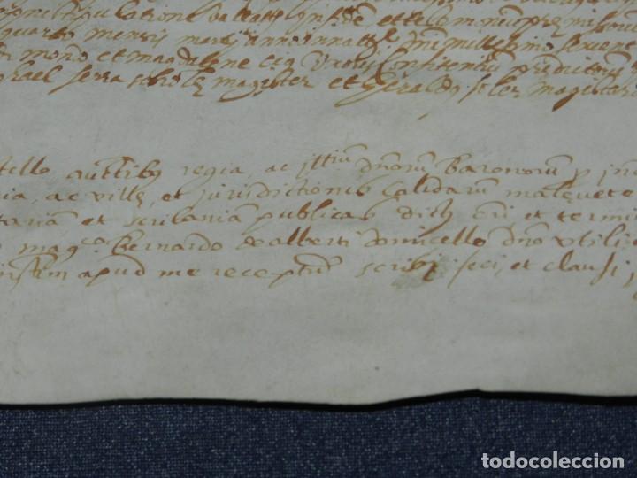 Arte: ANTIGUO PERGAMINO MANUSCRITO MEDIEVAL AÑO 1624 - 23X15CM. .- ORIGINAL DE LA ÉPOCA - Foto 5 - 212761801