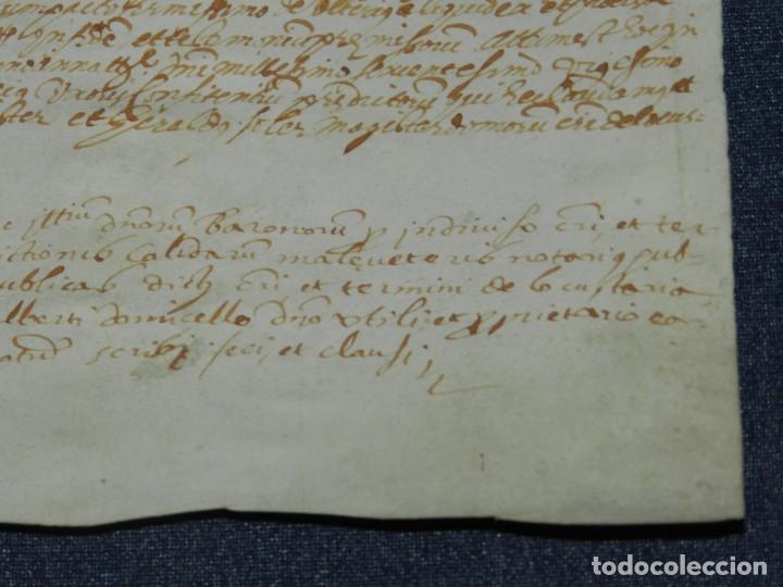 Arte: ANTIGUO PERGAMINO MANUSCRITO MEDIEVAL AÑO 1624 - 23X15CM. .- ORIGINAL DE LA ÉPOCA - Foto 6 - 212761801