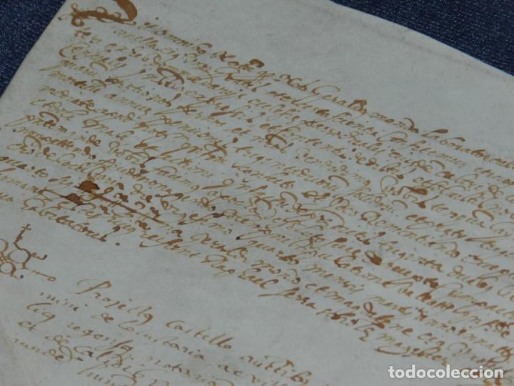 Arte: ANTIGUO PERGAMINO MANUSCRITO MEDIEVAL AÑO 1624 - 23X15CM. .- ORIGINAL DE LA ÉPOCA - Foto 7 - 212761801