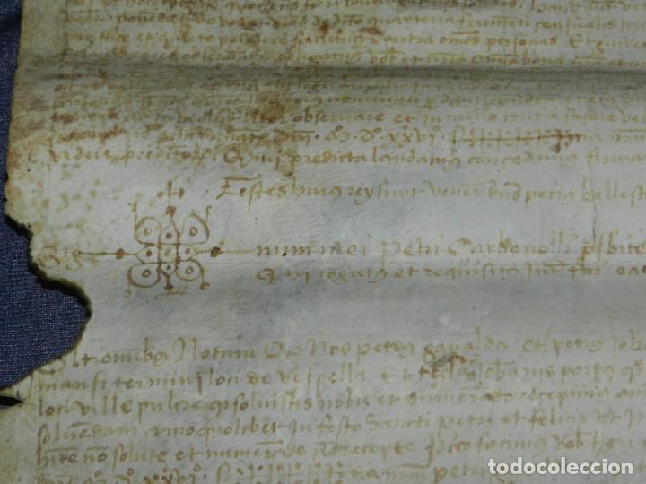 Arte: ANTIGUO PERGAMINO MANUSCRITO MEDIEVAL 1526 - 36X30CM. .- ORIGINAL DE LA EPOCA - Foto 10 - 212763467
