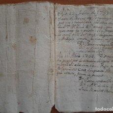 Arte: 1761 PEQUEÑA LIBRETA CON ANOTACIONES COMERCIALES - BORGONYA - GIRONA. Lote 212987237