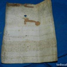 Arte: (M) PERGAMINO MEDIEVAL AÑO 1585 VILLE DE VILLIBUS - VALLS TARRAGONA - 30,5X36CM. Lote 213143221