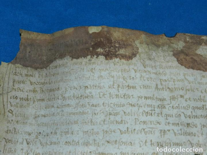 Arte: (M) PERGAMINO MEDIEVAL AÑO 1585 VILLE DE VILLIBUS - VALLS TARRAGONA - 30,5X36CM - Foto 3 - 213143221