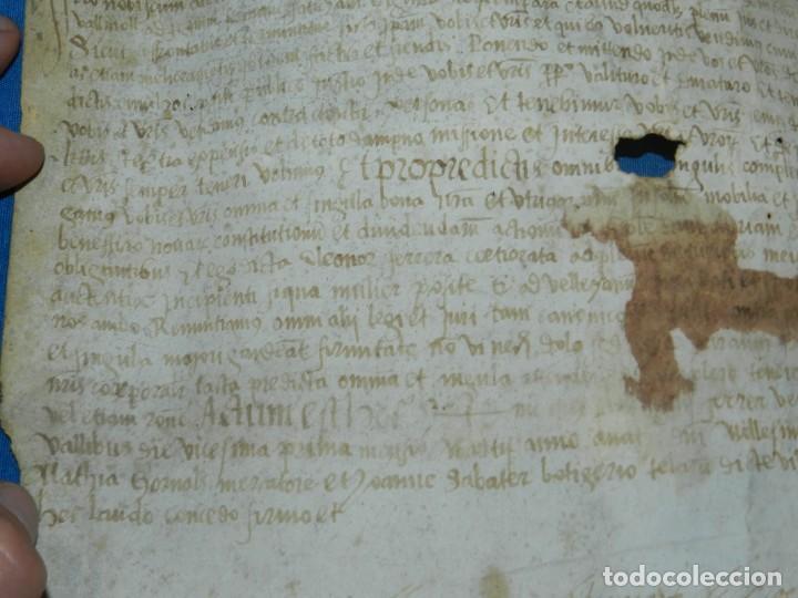 Arte: (M) PERGAMINO MEDIEVAL AÑO 1585 VILLE DE VILLIBUS - VALLS TARRAGONA - 30,5X36CM - Foto 6 - 213143221