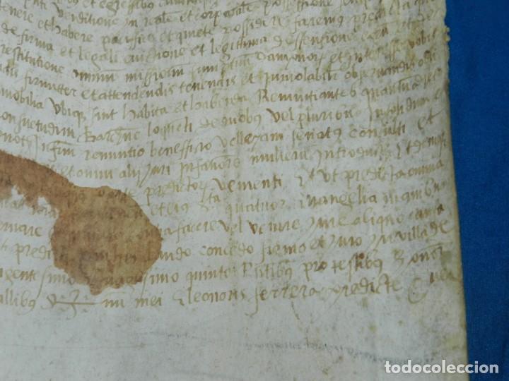 Arte: (M) PERGAMINO MEDIEVAL AÑO 1585 VILLE DE VILLIBUS - VALLS TARRAGONA - 30,5X36CM - Foto 8 - 213143221