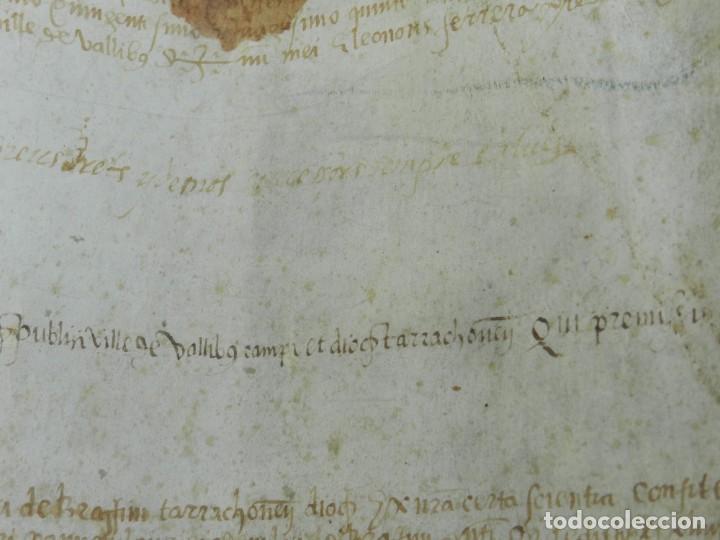 Arte: (M) PERGAMINO MEDIEVAL AÑO 1585 VILLE DE VILLIBUS - VALLS TARRAGONA - 30,5X36CM - Foto 11 - 213143221
