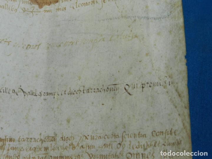 Arte: (M) PERGAMINO MEDIEVAL AÑO 1585 VILLE DE VILLIBUS - VALLS TARRAGONA - 30,5X36CM - Foto 12 - 213143221