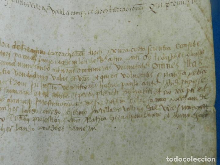 Arte: (M) PERGAMINO MEDIEVAL AÑO 1585 VILLE DE VILLIBUS - VALLS TARRAGONA - 30,5X36CM - Foto 16 - 213143221