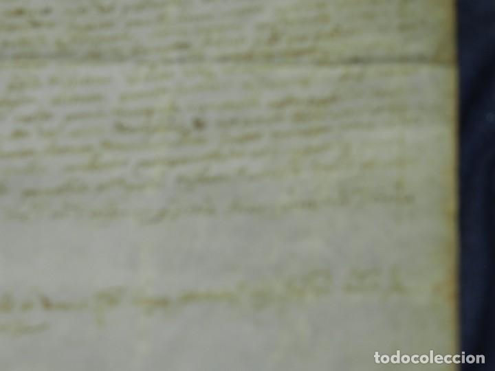 Arte: (M) PERGAMINO MEDIEVAL 1581 GERUNDE / GERONA - 43X39CM, SEÑALES DE USO DE LA ÉPOCA - Foto 10 - 216436235