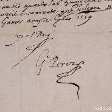 Arte: CARLOS I. COPIA ORIGINAL DE LA CARTA ENVIADA A SU EMBAJADOR EN GÉNOVA. 1559. Lote 218239383