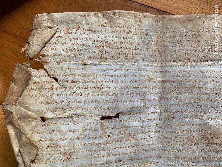 Arte: antiguo pergamino, ancient parchment , de piel, manuscrito. Ver fotos - Foto 2 - 218391528