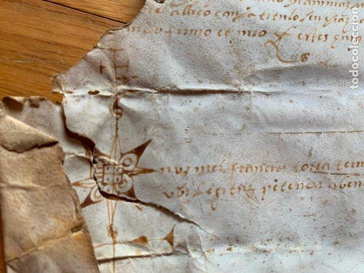 Arte: antiguo pergamino, ancient parchment , de piel, manuscrito. Ver fotos - Foto 3 - 218391528