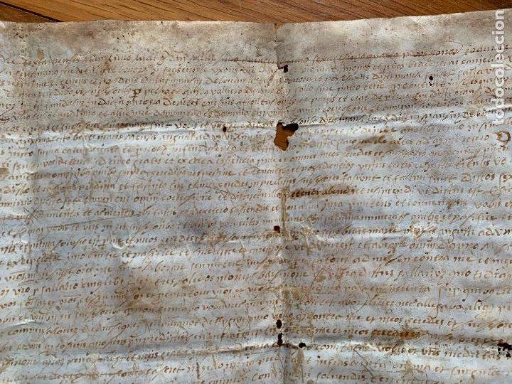 Arte: antiguo pergamino, ancient parchment , de piel, manuscrito. Ver fotos - Foto 4 - 218391528