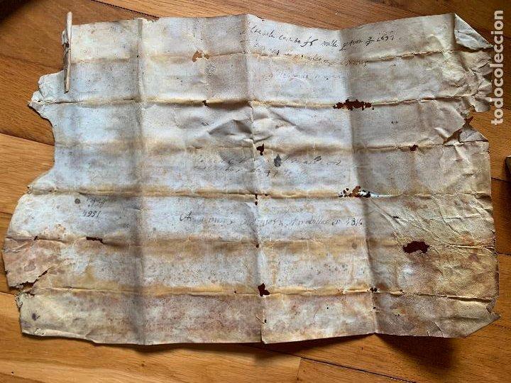 Arte: antiguo pergamino, ancient parchment , de piel, manuscrito. Ver fotos - Foto 15 - 218391528