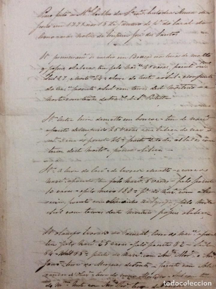 CARTA MANUSCRITA DATADA DE 15 DE JANEIRO DE 1771. INVENTÁRIO DE TERRAS. EN PORTUGUÉS (Arte - Manuscritos Antiguos)