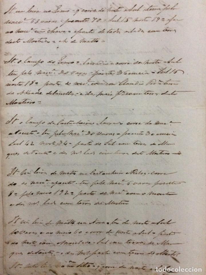 Arte: Carta manuscrita datada de 15 de Janeiro de 1771. Inventário de terras. En portugués - Foto 2 - 257378155
