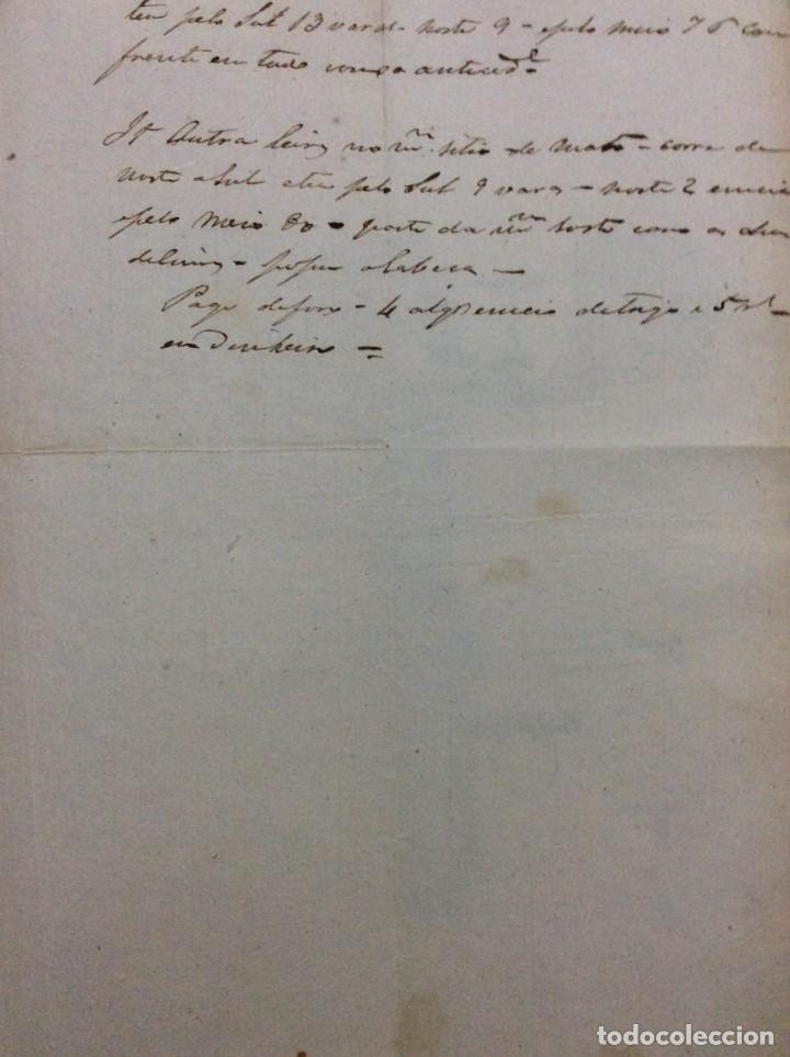 Arte: Carta manuscrita datada de 15 de Janeiro de 1771. Inventário de terras. En portugués - Foto 3 - 257378155
