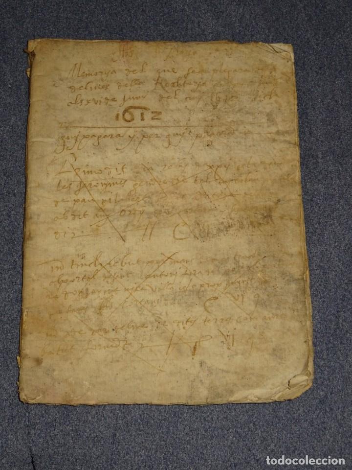 (M2-5) LIBRO MANUSCRITO DEL AÑO 1612 - LIBRO DE CUENTAS EN CATALAN, 26 PAG,15,5X22CM (Arte - Manuscritos Antiguos)