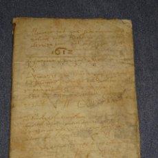 Arte: (M2-5) LIBRO MANUSCRITO DEL AÑO 1612 - LIBRO DE CUENTAS EN CATALAN, 26 PAG,15,5X22CM. Lote 260866090