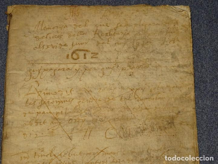 Arte: (M2-5) LIBRO MANUSCRITO DEL AÑO 1612 - LIBRO DE CUENTAS EN CATALAN, 26 PAG,15,5X22CM - Foto 2 - 260866090