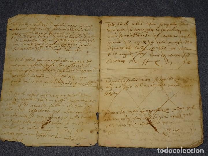 Arte: (M2-5) LIBRO MANUSCRITO DEL AÑO 1612 - LIBRO DE CUENTAS EN CATALAN, 26 PAG,15,5X22CM - Foto 4 - 260866090