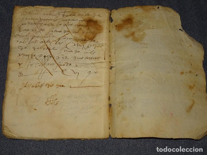 Arte: (M2-5) LIBRO MANUSCRITO DEL AÑO 1612 - LIBRO DE CUENTAS EN CATALAN, 26 PAG,15,5X22CM - Foto 5 - 260866090