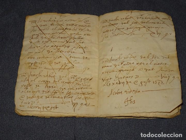 Arte: (M2-5) LIBRO MANUSCRITO DEL AÑO 1612 - LIBRO DE CUENTAS EN CATALAN, 26 PAG,15,5X22CM - Foto 6 - 260866090