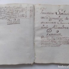 Arte: LIBRERIA GHOTICA. LIBRO MANUSCRITO DEL SIGLO XVIII SOBRE LOS ÁNGELES. SANTO TOMÁS DE AQUINO.. Lote 264808309