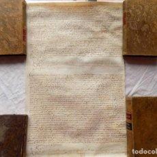 Arte: LIBRERIA GHOTICA. PERGAMINO MANUSCRITO DE VILADESENS I RUPIÀ.CAPITOLS MATRIMONIALS. 1628. 54 X 34 CM. Lote 267230774