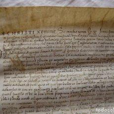 Arte: LIBRERIA GHOTICA. GRAN PERGAMINO MANUSCRITO DEL ANTIGUO CAMPRODON. 1551. 44 X 34 CM.. Lote 267232049