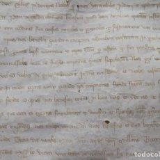 Arte: LIBRERIA GHOTICA. EXCEPCIONAL GRAN PERGAMINO MANUSCRITO DEL S. XIV. 1383. 55 X 40 CM.. Lote 267234004