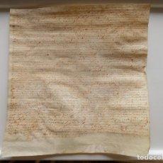 Arte: LIBRERIA GHOTICA. PERGAMINO MANUSCRITO DEL S. XVII. 1686. ACTA NOTARIAL. MEDIDAS 30 X 31 CM.. Lote 270192718