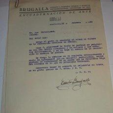 Arte: ENCUADERNACIÓN EMILIO BRUGALLA CON AUTORGRAFO ORIGINAL A TINTA, BARCELONA 22 FEBRERO 1950. Lote 273645828