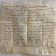 Arte: MAGNÍFICO PERGAMINO EN PIEL, MANUSCRITO, ANTIGUO. AÑO 1574 - EN LATÍN. ORIGINAL. ANTIQUE PARCHMENT.. Lote 276634678
