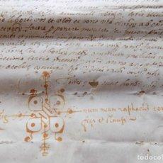 Arte: LIBRERIA GHOTICA. PERGAMINO MANUSCRITO DEL SIGLO XVII. 1609. MICHAEL FONT. MEDIDAS 30 X 20 CM.. Lote 276685208