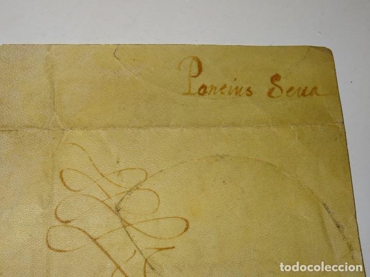 Arte: M) Pergamino certificado de fe de vida Filippo Vastavillano, cardenal ordenado Papa Gregorio XIII - Foto 6 - 172820878