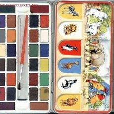 Arte: ANTIGUA CAJA LATA DE ACUARELAS DE LA CASA PAGE LONDON 28 COLORES AÑOS 70 NUEVA A ESTRENAR*. Lote 229180530