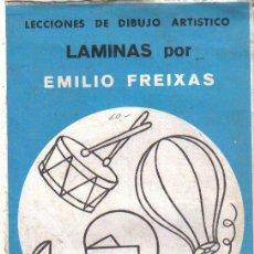 Arte: LECCIONES DE DIBUJO ARTÍSTICO, LÁMINAS POR EMILIO FREIXAS. Lote 26561572