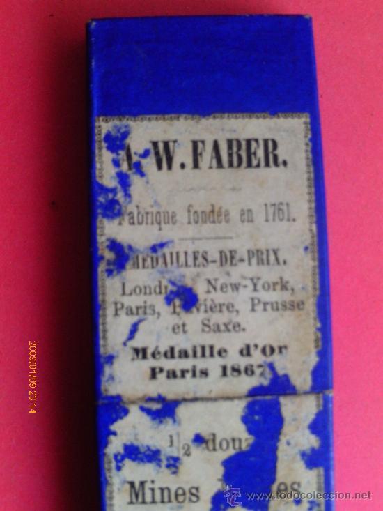 TUBOS DE CRISTAL PARA MINAS . W.FABER S. XIX (Arte - Material de Bellas Artes)