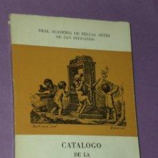 Arte: CATÁLOGO DE LA CALCOGRAFÍA NACIONAL.REAL ACADEMIA DE BELLAS ARTES DE SAN FERNANDO.. Lote 31234051