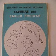 Arte: EMILIO FREIXAS. LÁMINAS DIBUJO ARTÍSTICO, SERIE AZUL A 5, ANIMALES. MESEGUER, BARCELONA. AÑO 1964. Lote 105396220