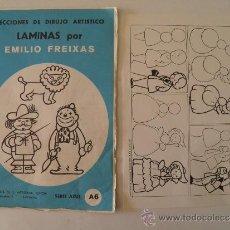 Arte: EMILIO FREIXAS. LÁMINAS DIBUJO ARTÍSTICO, SERIE AZUL A 6, MUÑECOS. MESEGUER, BARCELONA. AÑO 1964. Lote 105396303