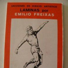 Arte: EMILIO FREIXAS. LÁMINAS DIBUJO ARTÍSTICO, SERIE ROJA 13, DEPORTES. MESEGUER, BARCELONA. AÑO 1964. Lote 148734094