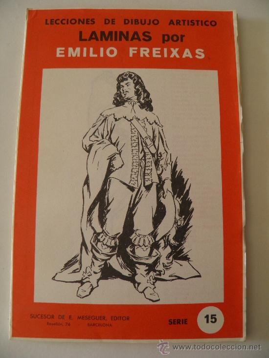 EMILIO FREIXAS. LÁMINAS DIBUJO ARTÍSTICO, SERIE ROJA 15, FIGURAS. MESEGUER, BARCELONA. AÑO 1964 (Arte - Material de Bellas Artes)